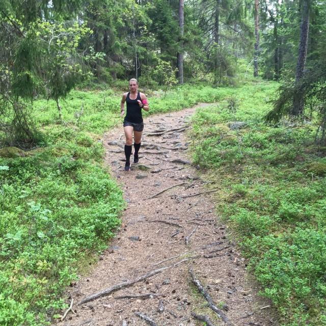 V löpning i skogen 1