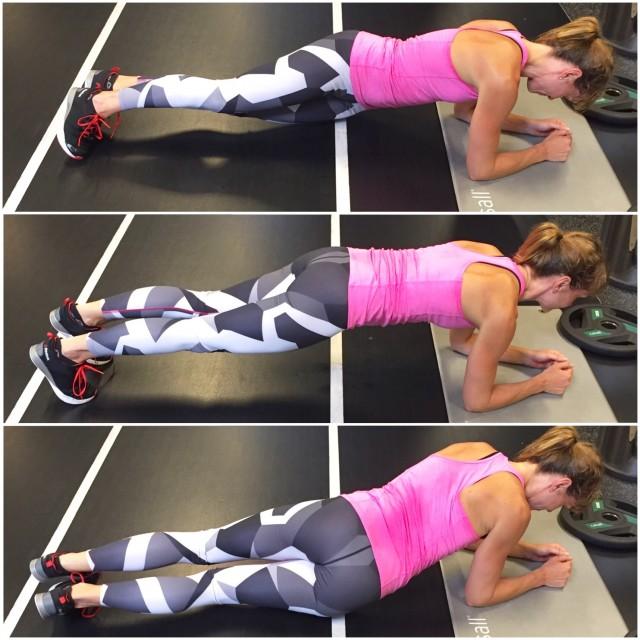 Planka med höft i golv -Lina