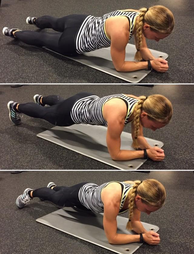 Planka med höft i golv