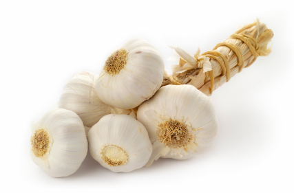 Garlic bulbs, high-key, isolated