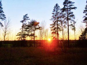 Solnedgång hemma hos oss