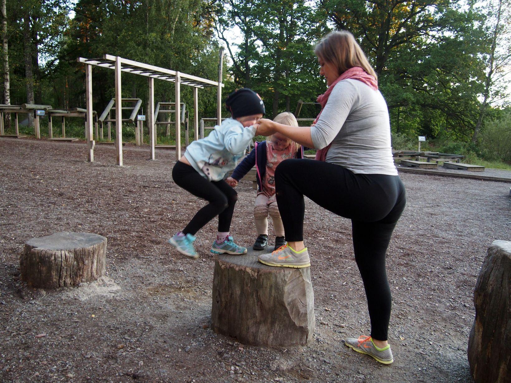 träna med familjen